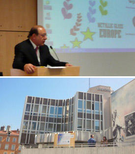 Chaired by Prof. Yavari (top), the workshop was held at the Maison du Tourism (bottom) in Grenoble, France.