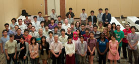 Students, supervisors and staff at the ASSM2012
