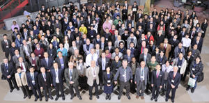 "Almost 240 researchers from over 50 organizations and 13 countries attended the AIMR International Symposium in Sendai in February 2014 to share knowledge under the banner of ""Toward emergence of new materials science with mathematics collaboration."""