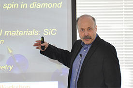 David Awschalom, a pioneer in the field of spintronics at the University of Chicago, presented his recent work at the first joint research center workshop organized between the University of Chicago and the AIMR.