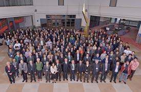 The AIMR International Symposium (AMIS) 2016 offered a glimpse of what a world equipped with materials inspired by harmonious collaborations between mathematics and materials science would look like.