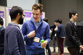 The poster session gave researchers the opportunity to discuss their latest discoveries.
